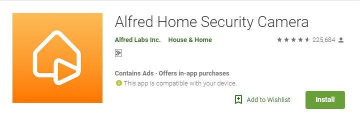 Alfred on play store