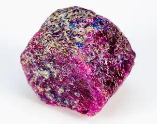 corundum mineral  with metallic luster