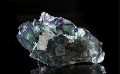 fluorite mineral with metallic luster