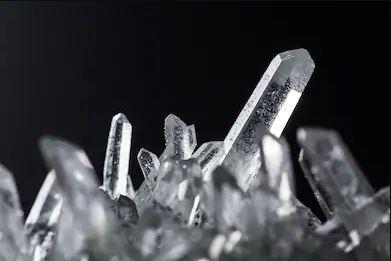 quartz mineral with metallic luster