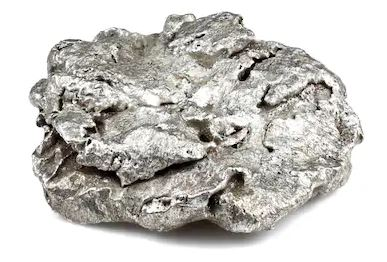 silver mineral with metallic luster