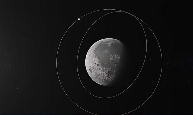 Orbiter and lander revolving