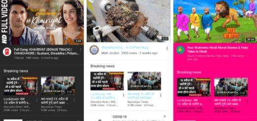 YouTube Vanced in 3 colors - dark, blue, pink